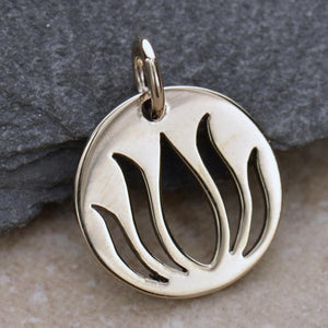 Sterling Silver Lotus Charm
