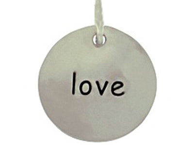 Sterling Silver Love Round Word Charm