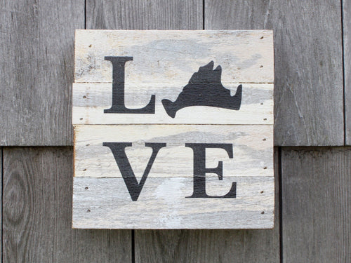 Love Small Reclaimed Sign