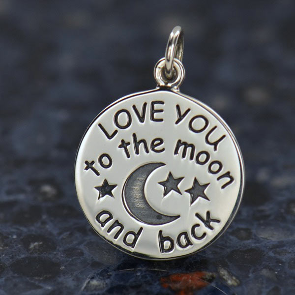 Sterling Silver Love You To The Moon And Back Charm