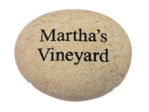 Martha's Vineyard Carved River Stone