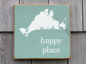 Martha's Vineyard Happy Place Sign