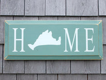 Load image into Gallery viewer, Home Sign with Martha's Vineyard Island