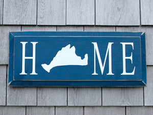 Home Sign with Martha's Vineyard Island