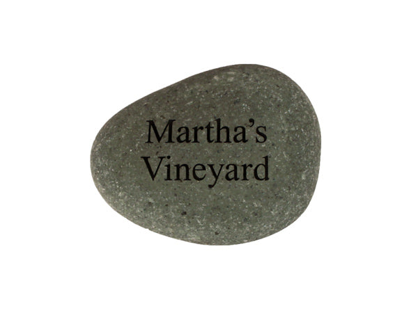 Martha's Vineyard Small Carved Beach Stone