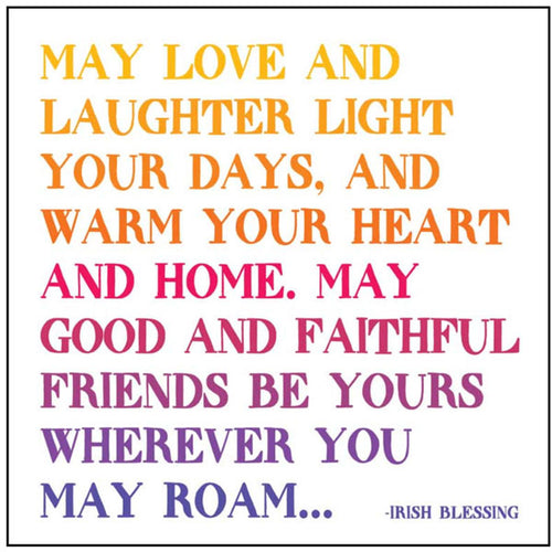 May Love and Laughter Quotable Card or Magnet