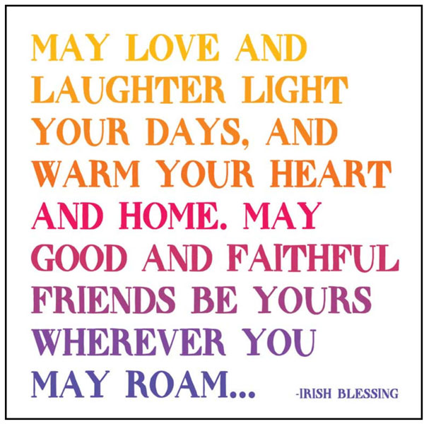 May Love, Laughter, Light Quotable Card or Magnet
