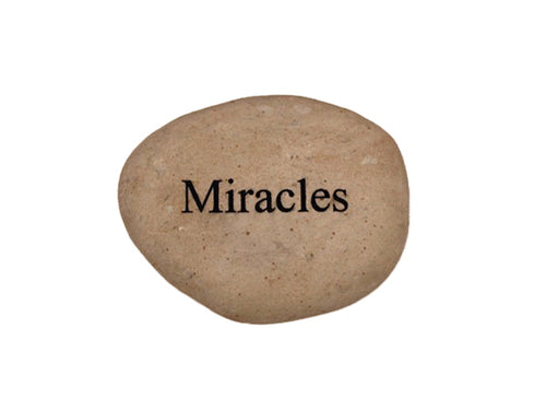 Miracles Small Carved Beach Stone