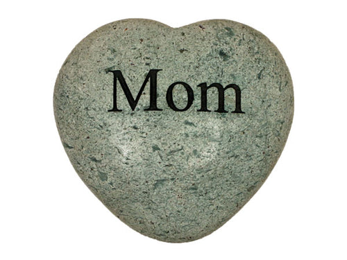 Mom Large Engraved Heart