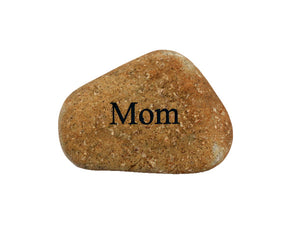 Mom Small Carved Beach Stone