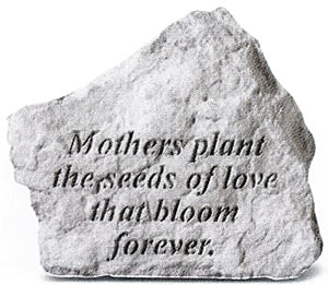 Mothers Plant the Seeds of Love Concrete Stone