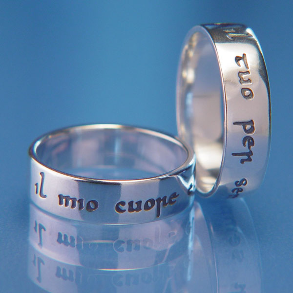 Sterling Silver My Heart is Yours in Italian Poesy Ring