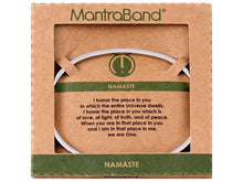 Load image into Gallery viewer, Namaste Mantraband Cuff Bracelet