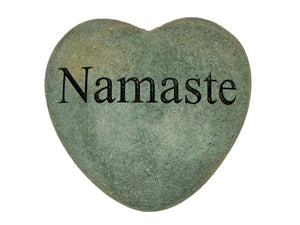 Namaste Large Engraved Heart