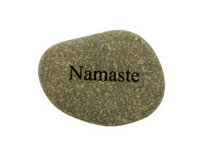 Namaste Small Carved Beach Stone