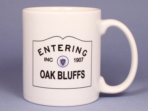 Entering Oak Bluffs Ceramic Mug