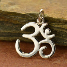 Load image into Gallery viewer, Sterling Silver Om Symbol Charm