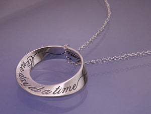 One Day At A Time Mobius Necklace