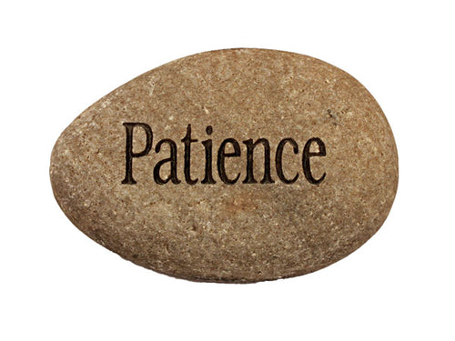 Patience Carved River Stone