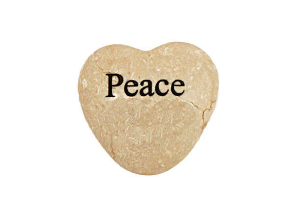 Peace Small Engraved Heart