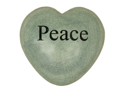 Peace Large Engraved Heart