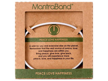 Load image into Gallery viewer, Peace Love Happiness Mantraband Cuff Bracelet
