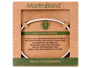 Peace Love Happiness Mantraband Cuff Bracelet