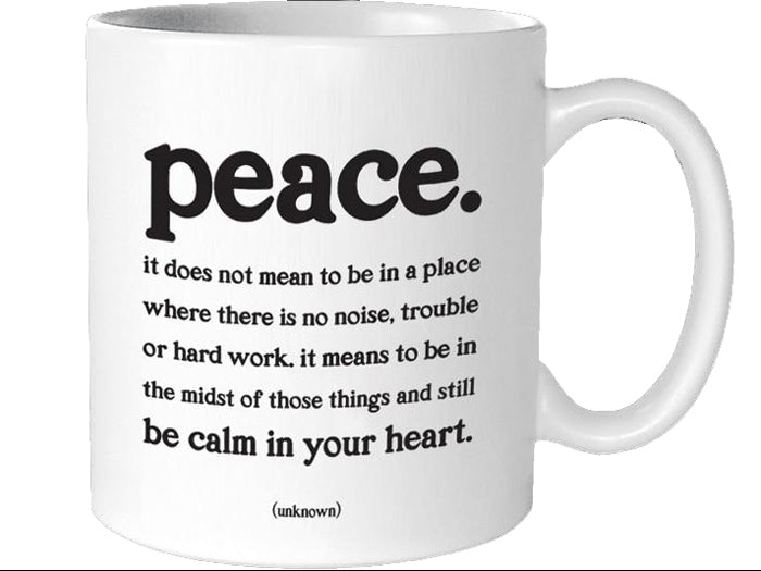 Quotable Peace Mug