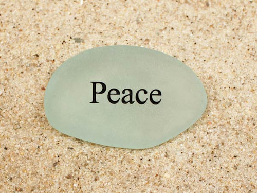 Peace Sea Glass
