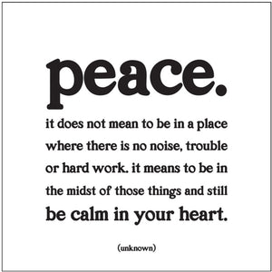 Peace Quotable Card or Magnet