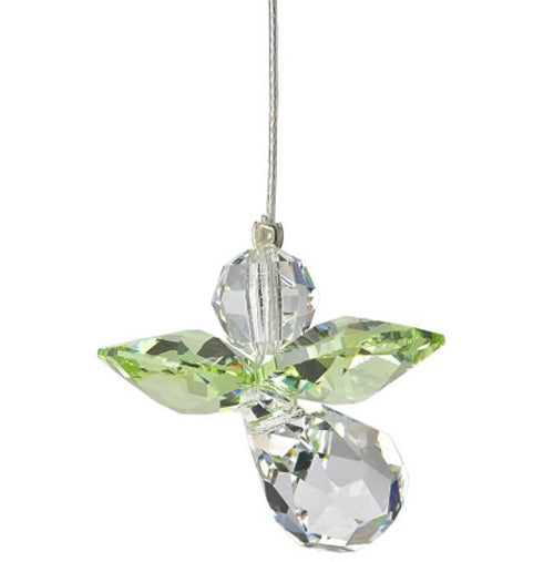 Peridot Crystal Angel Suncatcher