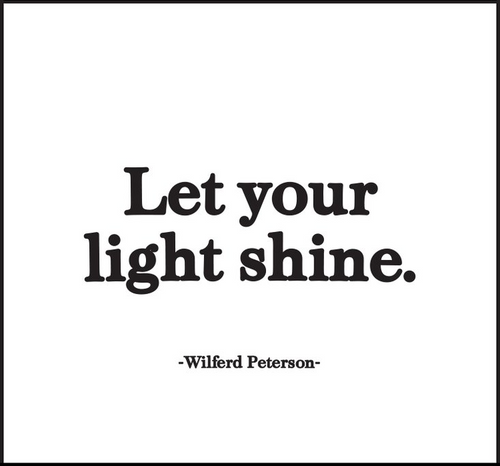 Let Your Light Shine Quotable Magnet