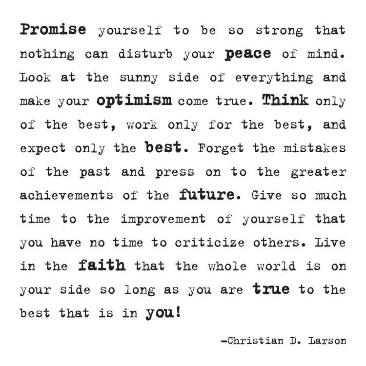 Promise Yourself to be Strong Quotable Card or Magnet