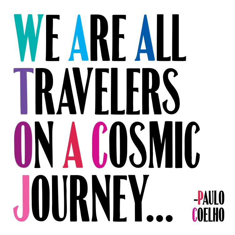 We are All Travelers Quotable Card or Magnet