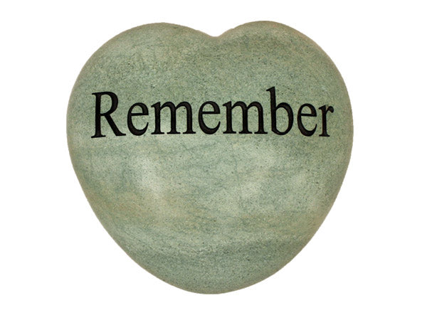 Remember Large Engraved Heart