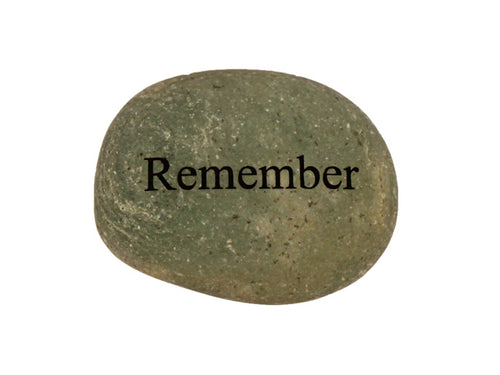 Remember Small Carved Beach Stone