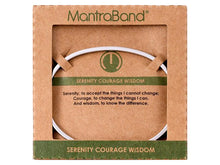 Load image into Gallery viewer, Serenity Courage Wisdom Mantraband Cuff Bracelet