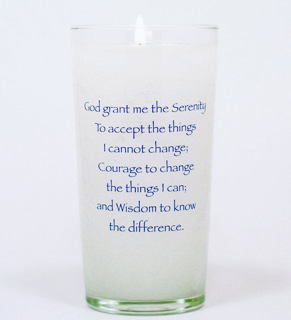 Serenity Prayer Memorial Candle