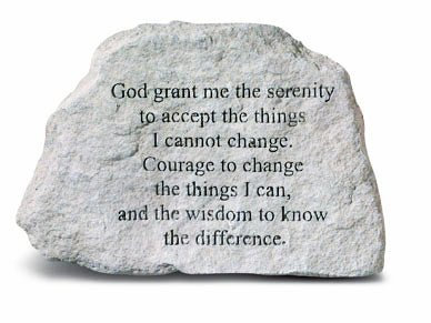 Serenity Prayer Concrete Stone