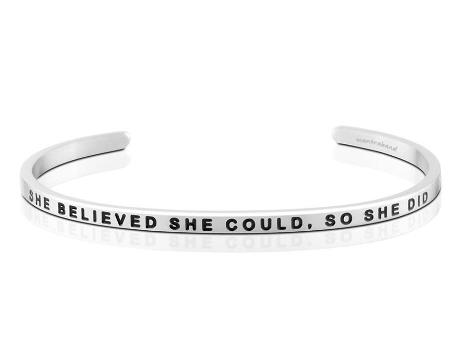 She Believed She Could Mantraband Cuff Bracelet