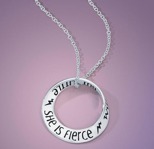 And Though She Be But Little, She Is Fierce Mini Mobius Necklace