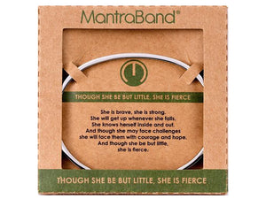 She Is Fierce Mantraband Cuff Bracelet