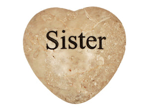 Sister Large Engraved Heart
