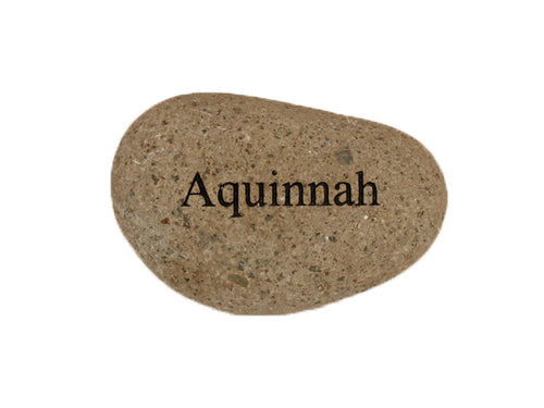 Aquinnah Small Carved Beach Stone