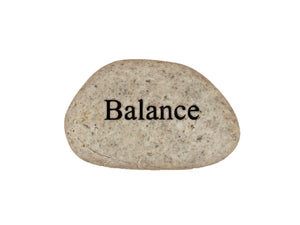 Balance Small Carved Beach Stone