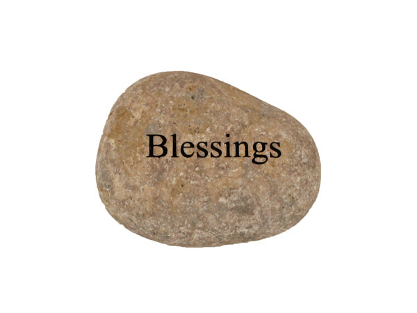 Blessings Small Carved Beach Stone