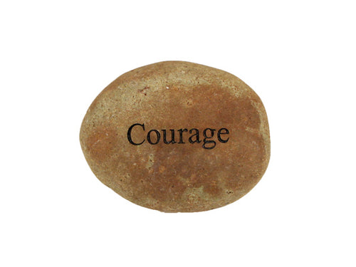 Courage Small Carved Beach Stone