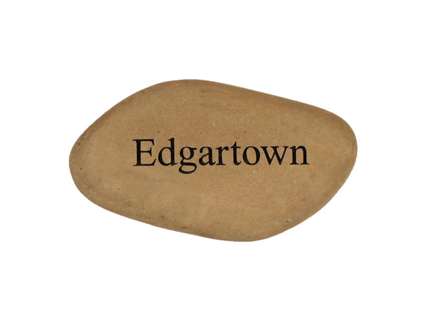 Edgartown Small Carved Beach Stone