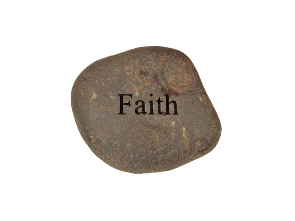 Faith Small Carved Beach Stone