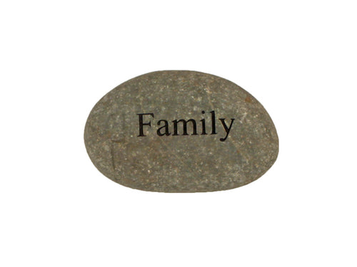 Family Small Carved Beach Stone
